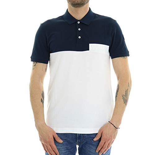 Colmar Poloshirt zweifarbig für Herren, Blau XXL