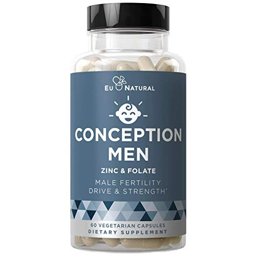 Conception Men Fertility Vitamins  Male Optimal Count, Motility Strength, Healthy Volume Production  Zinc, Folate, Ashwagandha Pills  60 Vegetarian Soft Capsules