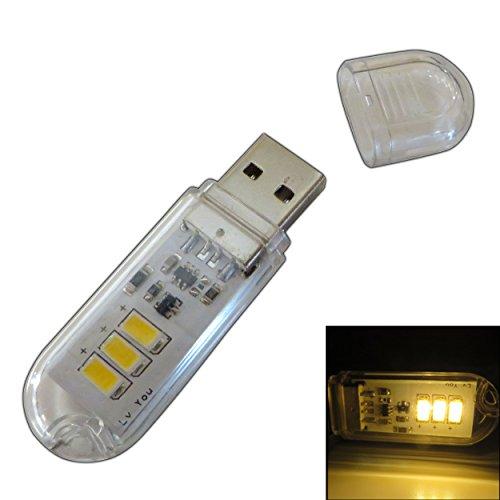 USB-Stick Leuchte 1-2 Watt USB Taschenlampe Lampe für Ihr Auto Zigarettenanschluss, Powerbank, Notebooks oder Handy per Adapter (USB Lampe 1,5W)