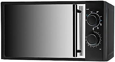 Eurowebb - Microondas con Parrilla Efecto Espejo (20 L, 700 W), Color Negro