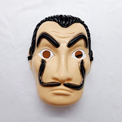 Boyang Masquerade Mask Máscara de Salvador Dali Careta Cosplay Disfraz Máscara de Fiesta for Family Friends,Party Decoration/Bar/Haunted House Short