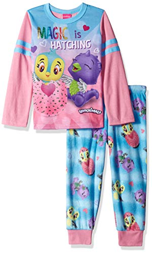 Hatchimals Big Girl's Long Sleeve Dorm (PJ Dress) with Cape, Pink/Blue, 7/8