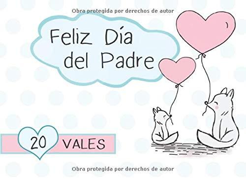 Feliz Día Del Padre 20 Vales: Talonario de 20 Vales Para Padre   Idea Para Regalo Para Dia del Padre   Regalo Para Papa Cumpleaños, Navidad