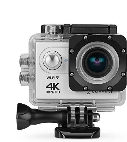 Amcrest GO 4K Sport-Action-Kamera 16MP-Objektiv, wasserdichte Unterwasserkamera, 170 ° Weitwinkel-WiFi-Sportkamera mit Fernbedienung 1 Batterie und Montagezubehör-Kit, AC4K-600