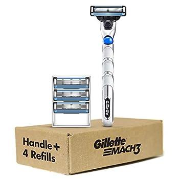 Gillette Mach3 3D Men s Razor Handle + 4 Blade Refills