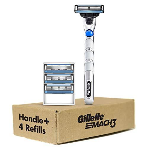 Price comparison product image Gillette Mach3 3D Men's Razor Handle + 4 Blade Refills