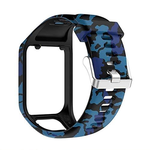 Xiaoyao24 Correa de repuesto de silicona para reloj de pulsera compatible con Tomtom- Runner 2 3 Spark 3 GPS Sport Watch para Tom Tom 2 3 Series