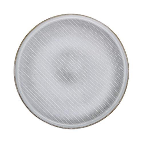 BUTLERS Henley Essteller in Grau Ø 26,5 cm - Teller aus Steingut - Speiseteller, Flachteller, hochwertiges Geschirr