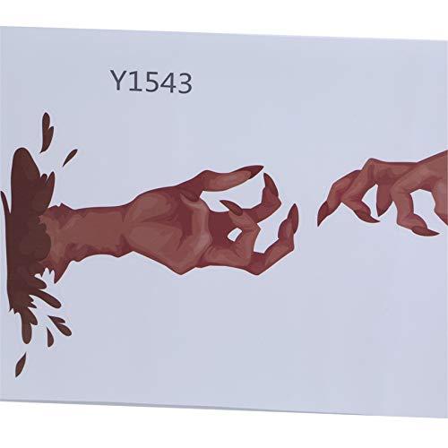QIHang Halloween Wandaufkleber Horror Handaufkleber Abziehbilder für Fenster Home Party Supplies