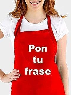 Delantal cocina personalizado con tu propia frase. Varios colores a elegir. Hecho en España.Regalo/Bodas/San Valentín/Cump...