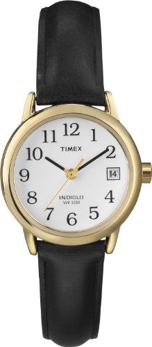 Timex Damarmbandsur läder bandet Svart/guldton