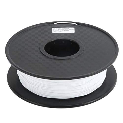 zhouweiwei Material de Suministros de filamento de impresión PLA de Color Natural Blanco 1.75 mm para Accesorio de filamento de Pluma de Impresora 3D