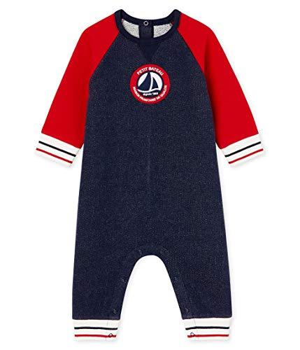 Petit Bateau Baby-Jungen Combinaison Longue_5051501 Strampler, Mehrfarbig (Smoking/Terkuit 01), 80 (Herstellergröße: 12M/74cm)