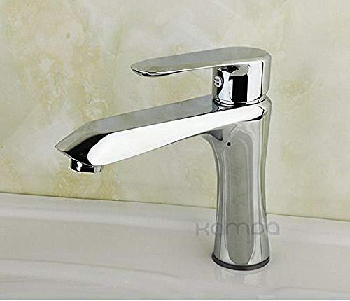 Grifo de Cocina, Grifo de lavabo para baño, grifo alargado y elevado, grifo de agua fría y caliente de un solo orificio estándar de cobre alto