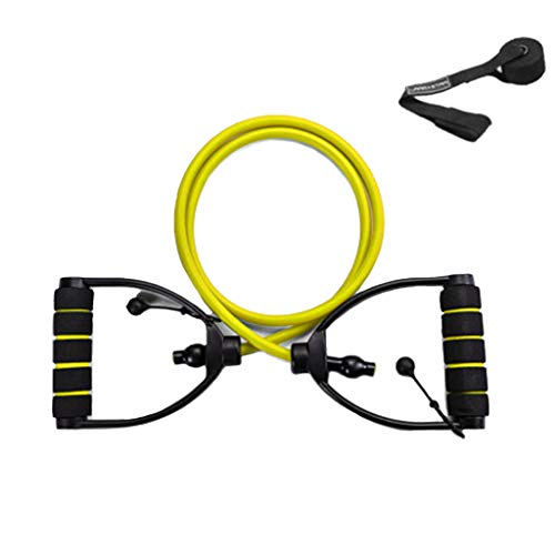 New middle Elastic Rope Fitness Pull Rope Male Household Adjustable Strength Training Word Resistanc...