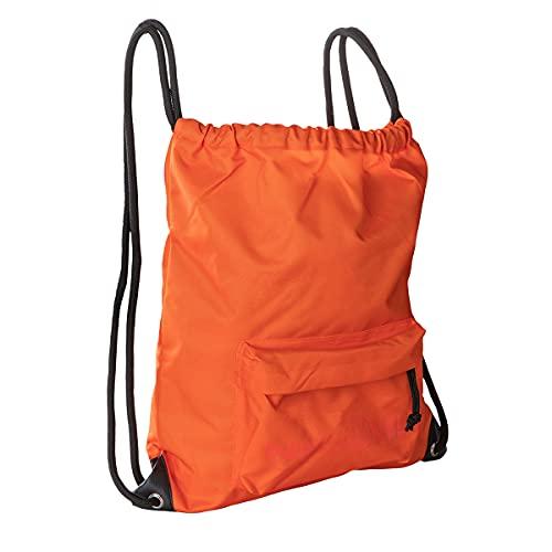 NE.ON Gym Sack Sacchetta portaoggetti 37x43 cm, Tessuto ecosostenibile Rpet Waterproof, Tessuto reflective che si illumina con la luce, sacchetta sportiva (Arancio)