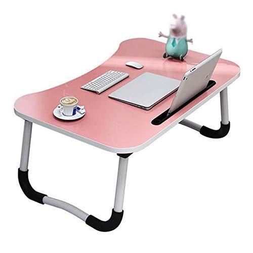 Laptopbed tafel ronde staande tafel voor bed en bank ontbijt bed laptop ronde bureau klap ontbijt serveren koffie dienblad notebook staander leeshouder voor bank vloer kinderen roze