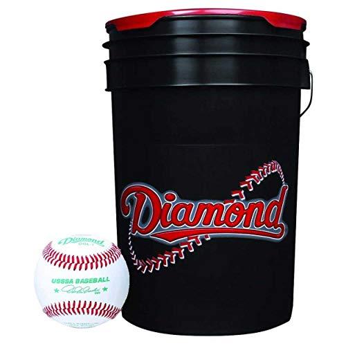 Rods Diamond Sports 6-Gallon Ball Bucket Combo w/24 DOL-1 USSSA Baseballs