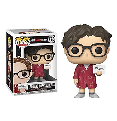 QIYV Funko Pop Movie The Big Bang Theory Kawaii Q Versión Nendoroid Figura De Anime Leonard 778 # Figuras De Acción De Vinilo Pop En Caja De Juguete De 10 Cm, Regalos De Cumpleaños para Niños