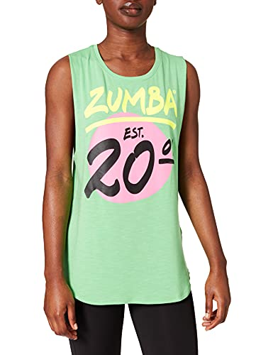 Zumba Fitness Active Loose Muscle Top Sexy Activewear Camisetas Tirantes Mujer de Entrenamiento Tank Tops, Green Vibes, XX-Large Womens