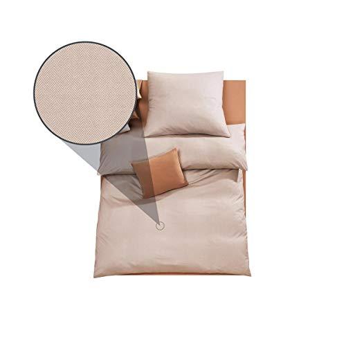 DORIS MEYER Interlock-Jersey Bettwäsche Kalli beige Kissenbezug einzeln 40x80 cm