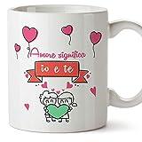 Mugffins Tazza San Valentino (Ti Amo) - Amore Significa io e Te. - Idee Regali Anniversario Originali per Lui/per Lei/Ragazzi/Fidanziati