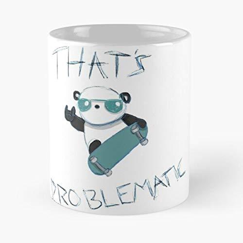 Desconocido Hannah LOL Hoffman Happypandaparty Happypandaparade Comedy Funny RAD Panda Taza de café con Leche 11 oz