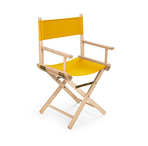 IMPWOOD REGIESTUHL Stuhl aus Holz Campingstuhl (gelb)