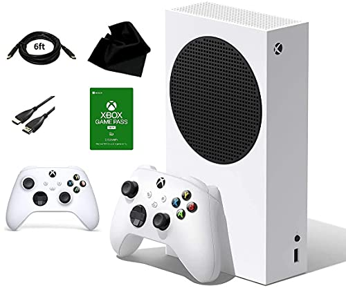 Xbox Series S Dazzling Bundle | Includes: Xbox Series S 512GB Console, 2 Wireless Controllers for Xbox, 3 Month Game Pass Code, Kwalicable Accessory Pack