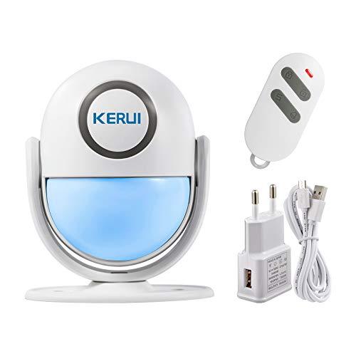 KERUI WP6 Sensor Alarma Casa WiFi Inalámbrico Control por APP, Sistema Alarma Puerta Antirrobo con 125 dB Sirena y Luces, Detector de Movimiento Infrarrojos para Hogar/Tienda/Oficina/Entrada Puerta