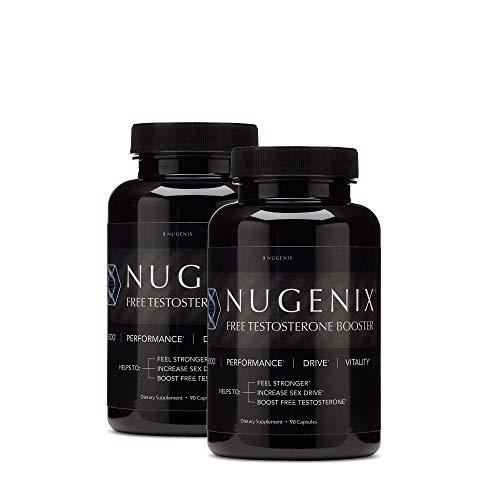 Nugenix Free Testosterone Booster for Men - Clinically Dosed, High Quality Men's Test Support, Feel Stronger and More Energetic, Helps Lean Muscle and Stamina, 2 Pack, 180 Count