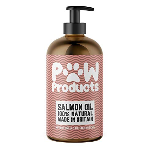 PAW Products SALMON OIL 100% Natural Omega 3 For Dogs and Cats