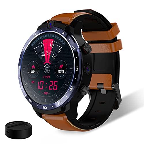 ACY Smart Watch 4G Face ID 1.6 pulgadas Pantalla Completa OS Android 7.1 3G RAM 32G ROM LTE 4G Sim GPS WIFI Frecuencia Cardíaca Hombre Femenino, Negro, B