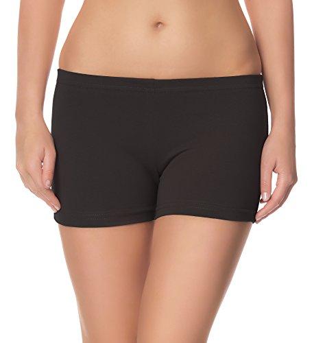 Ladeheid Damen Shorts Radlerhose Unterhose Hotpants Kurze Hose Boxershorts LAMA05, Anthrazit15, M-L (Herstellergröße: 38-40)