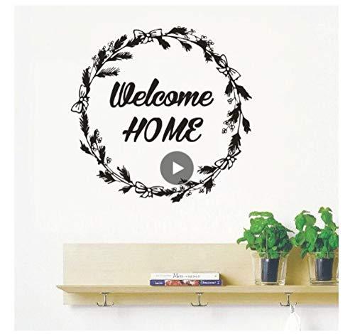 Home Decor Sticker voor thuis design wandsticker nieuw design antieke slinger welkom deursticker vinyl zelfklevend 42 x 41
