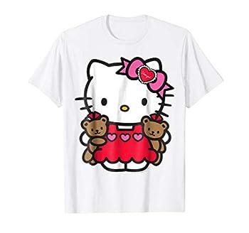 Hello Kitty Valentine Teddy Bear Tee Shirt