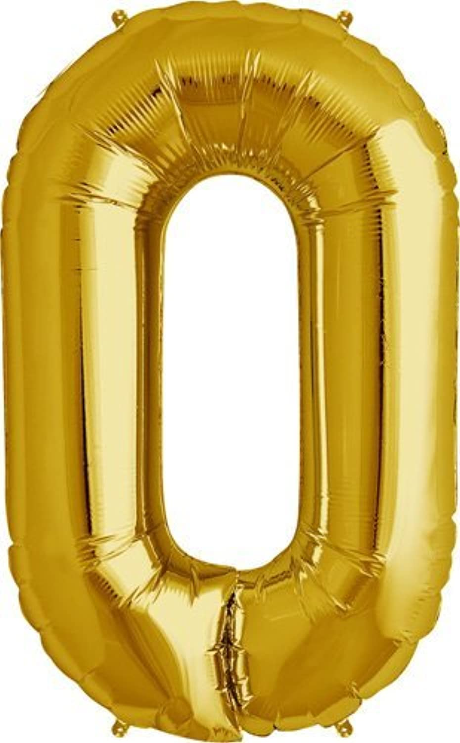 Number 0  gold Helium Foil Balloon  34 inch by Northstar Balloons