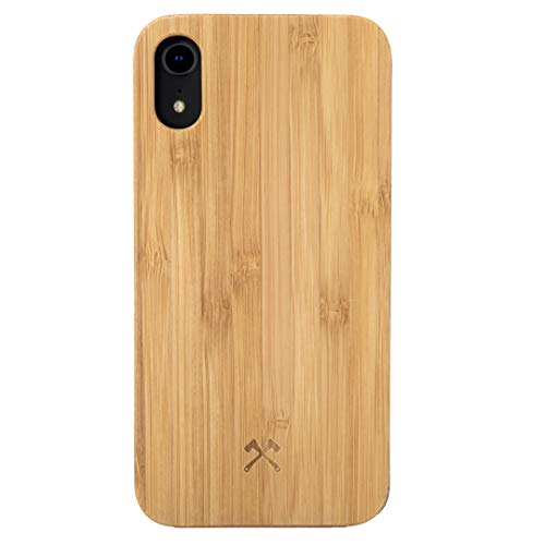 Woodcessories – Carcasa, Funda Compatible con iPhone XR, de Madera Real,...