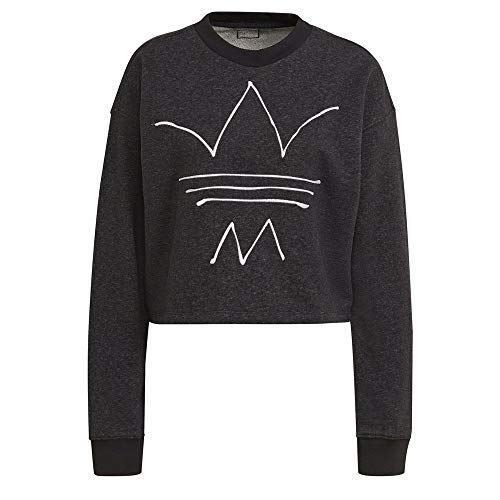 adidas Sweatshirt Suter Pulver, Black Melange, 38 para Mujer
