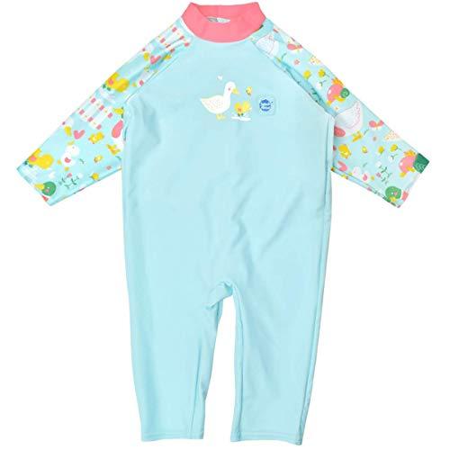 Splash About Traje de Sol Todo en uno para bebé, Patos pequeños, 6-12 Meses