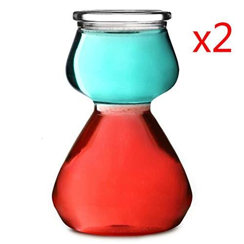 Originalidad Calabaza en forma Vermut en capas Bombas de cóctel Vaso de cóctel Ajenjo Copas de vino Estratificadas SGlasses, 2 piezas, 120 ml