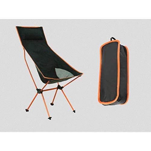 ZCRFYY Camping Chaise Pliante - Extra Grand avec appuie-tête et Aluminium Joints Portable Plage Pliant Compact Chaise d'extérieur Meubles pour la Plage de Pique-Nique Voyage Backpacking,Orange