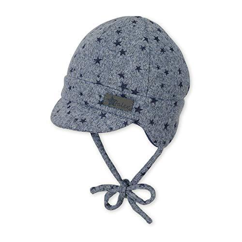 Sterntaler Schirmmütze für Jungen mit Ohrenklappen und Bindebändern, Alter: 9-12 Monate, Größe: 47, Mittelblau