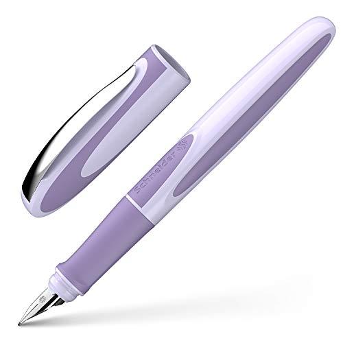 Schneider Ray - Pluma estilográfica (para diestros, incluye cartucho de tinta estándar azul real), color lavanda