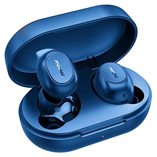 Cuffie Bluetooth,Mpow MDots Auricolari Bluetooth Senza Fili Con Bassi Potenti,Stabile Cuffie Sportiva Faclie Controllo,Cuffie Senza Fili Con Modalità Doppia e Mono,Cuffie da 20 Ore/IPX6/Microfoni/Nero
