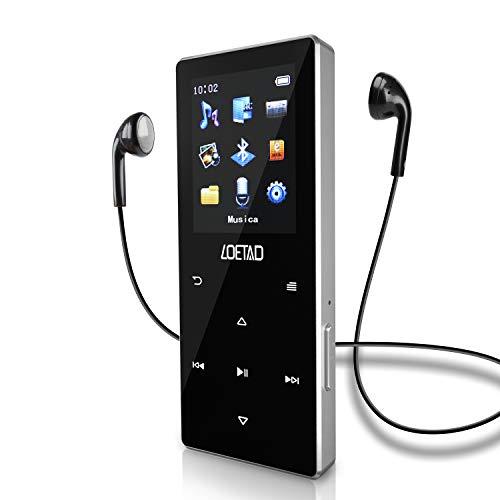 Lettore MP3 Bluetooth 4.2 2,4 pollici 3D curvo grande schermo millisecondo livello touch portatile senza perdita audio musica digitale radio FM registratore vocale supporto fino a 128 GB