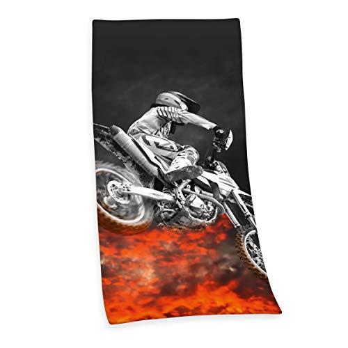 Herding Young Collection Telo Doccia, Motocross, 150 x 75 cm, Cotone, Multicolore