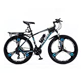 T-Day Bicicleta Montaña 27.5 Ruedas Bicicleta De Montaña Daul Disc Disc Frenos De 24 Velocidades para Hombre Suspensión Delantera MTB para Niños Chicas Hombres Y Wome(Size:27 Speed,Color:Azul)