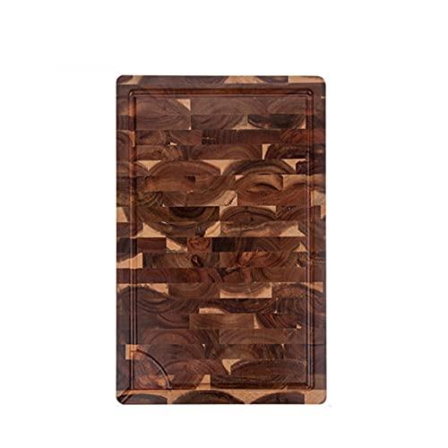 MJJCY Tabla de Cortar Extra Grande, Bloque de Carnicero de Grano de Extremo rectángulo, tablillas de Cocina de Cocina, Madera de Acacia, 18 x 12 x 1.4 Pulgadas (Color : 44x30cm with Groove)
