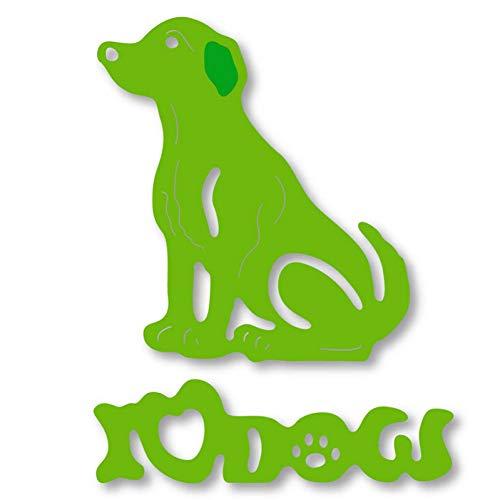 Pixiey Doe-het-zelf stansvorm voor het voorhoofd van mijn liefde, honden, dier, metaal, stansvormen, sjabloon voor doe-het-zelf, scrapbooking, kaarten, reliëf, handwerk, voorhoofd